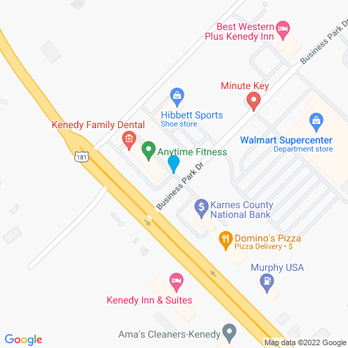 Map of Kenedy, TX