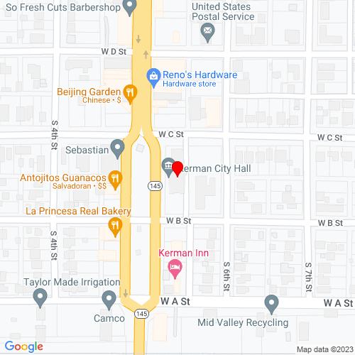 Map of Kerman, CA
