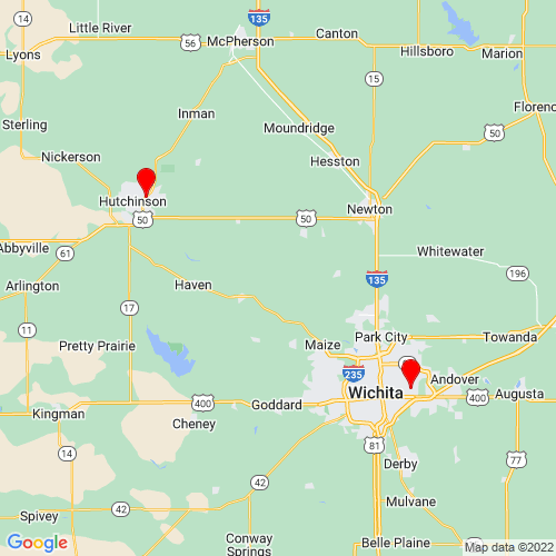 Map of Kingman, KS