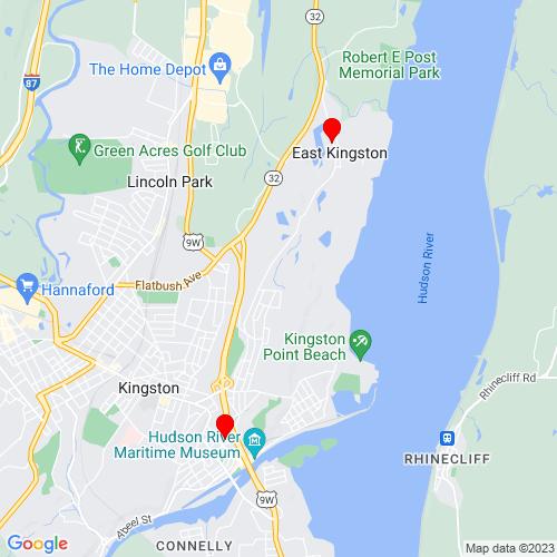 Map of Kingston, NY
