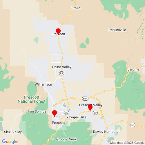 Map of Kirkland, AZ