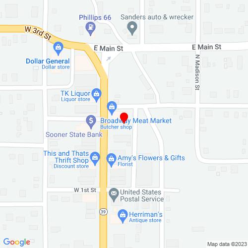 Map of Konawa, OK