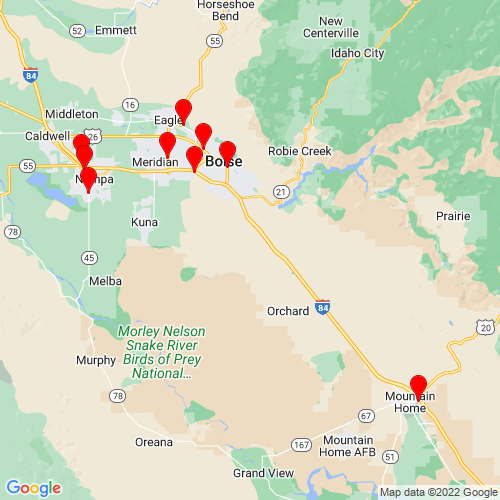 Map of Kuna, ID