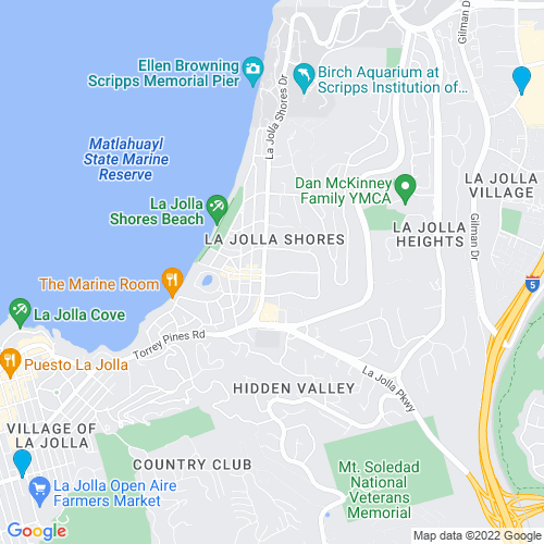 Map of La Jolla, CA