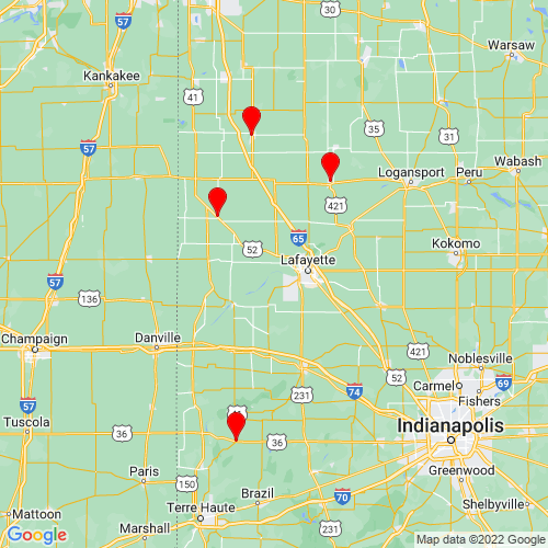 Map of Lafayette, IN