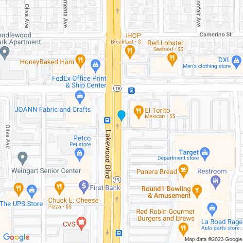 Map of Lakewood, CA