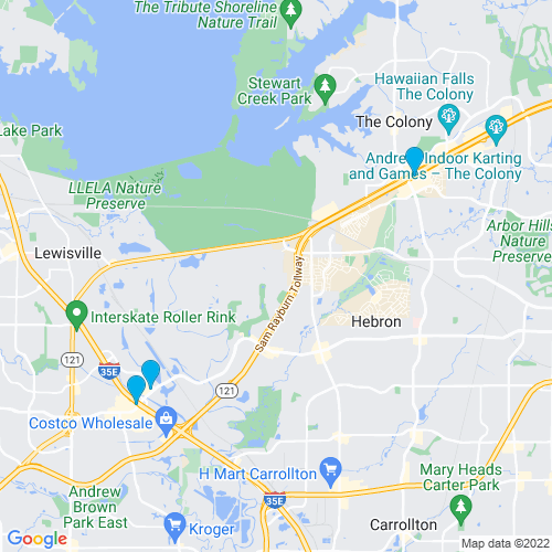 Map of Lewisville, TX