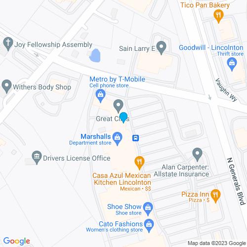 Map of Lincolnton, NC