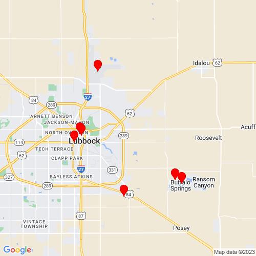 Map of Lubbock, TX