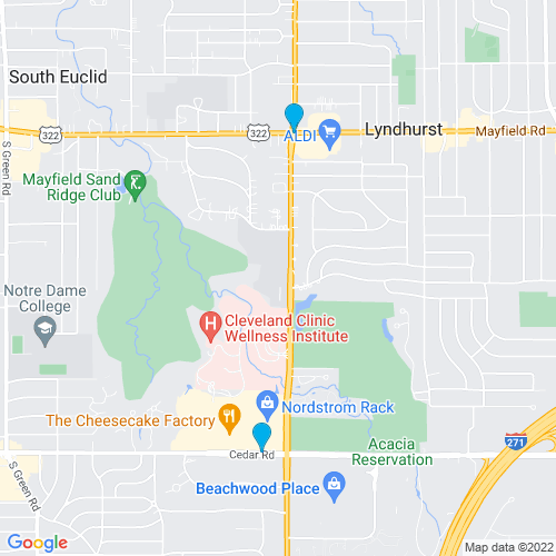 Map of Lyndhurst, OH
