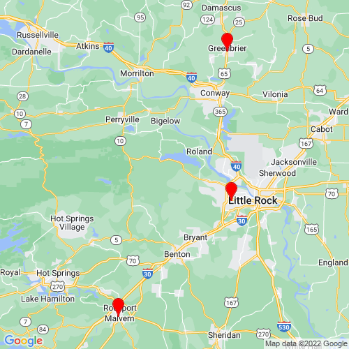 Map of Mabelvale, AR