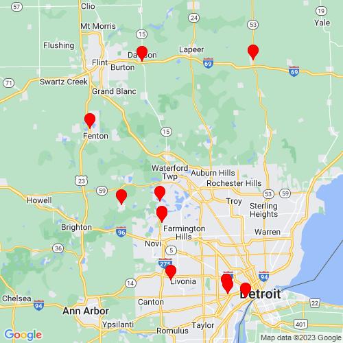 Map of Macomb, MI
