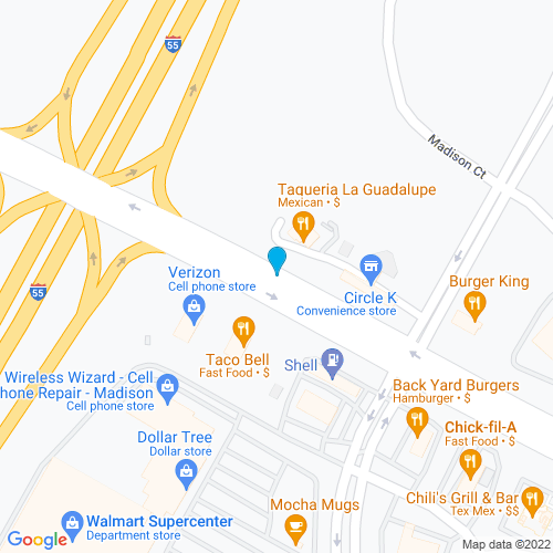 Map of Madison, MS