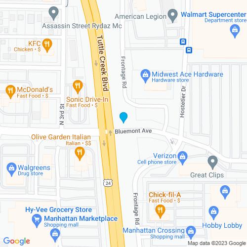 Map of Manhattan, KS