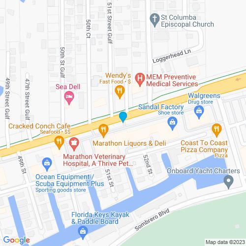 Map of Marathon, FL