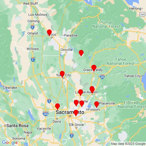 Map of Marysville, CA