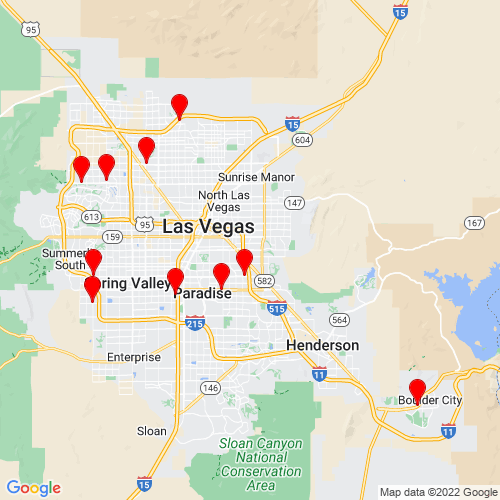 Map of Mesquite, NV