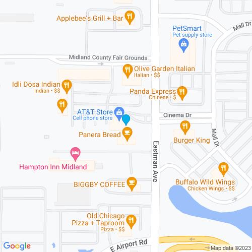 Map of Midland, MI