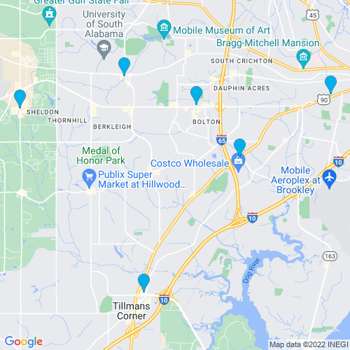 Map of Mobile, AL