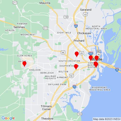 Map of Mobile, AL
