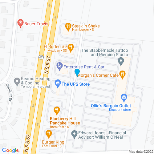 Map of Mooresville, IN