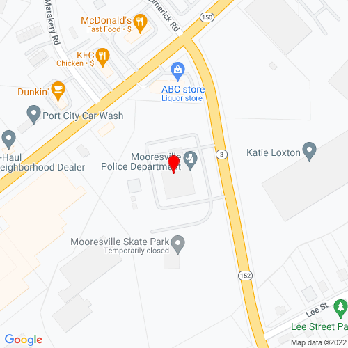 Map of Mooresville, NC