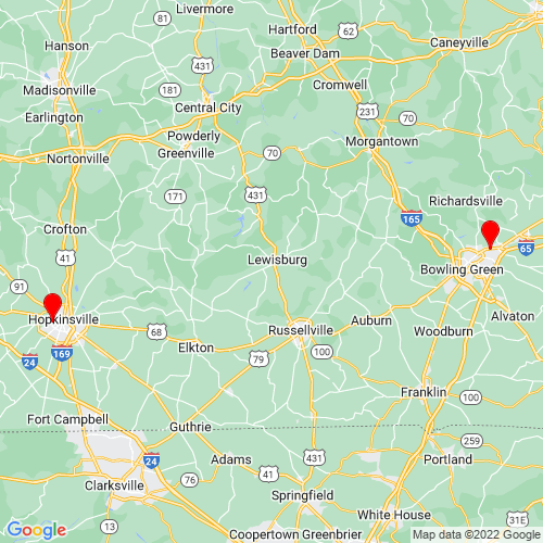 Map of Morgantown, KY