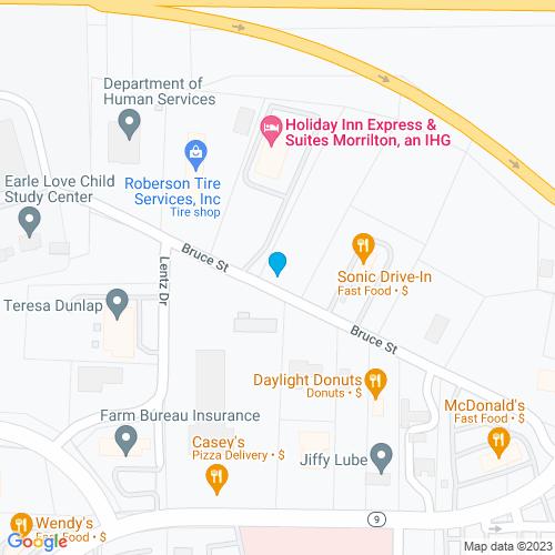 Map of Morrilton, AR