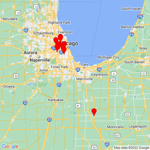Map of Munster, IN