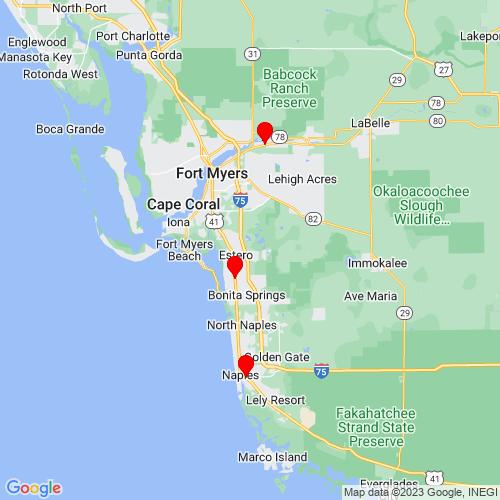Map of Naples, FL