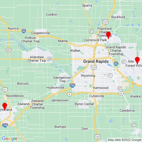 Map of Newaygo, MI