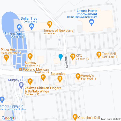 Map of Newberry, SC