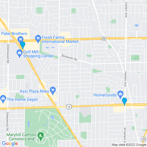Map of Niles, IL