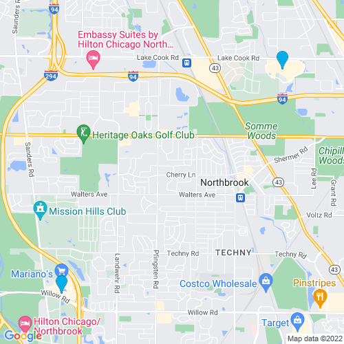Map of Northbrook, IL