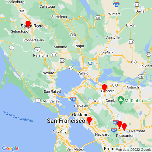 Map of Novato, CA