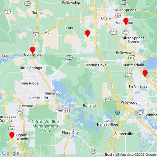 Map of Ocklawaha, FL