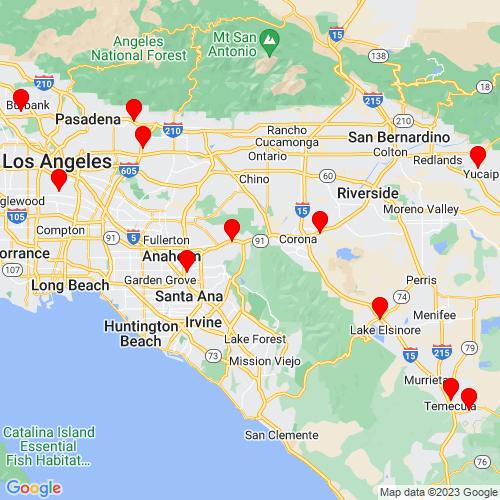 Map of Orange, CA