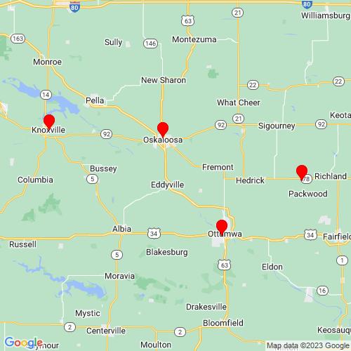 Map of Oskaloosa, IA