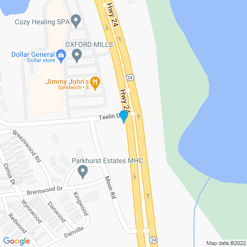Map of Oxford, MI