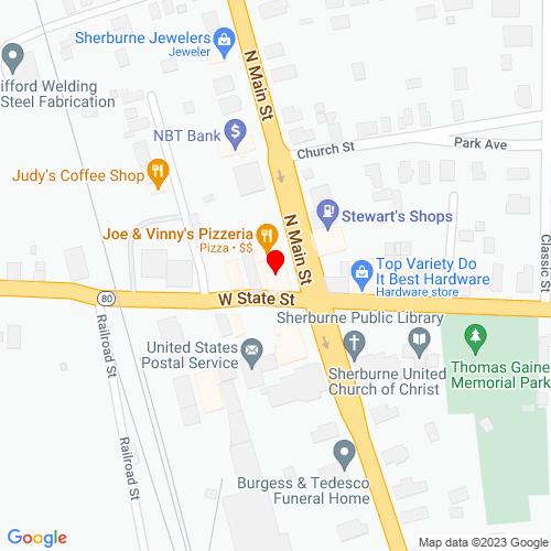 Map of Oxford, NY