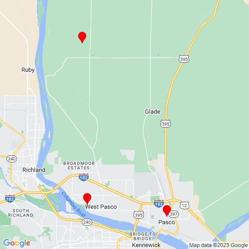 Map of Pasco, WA