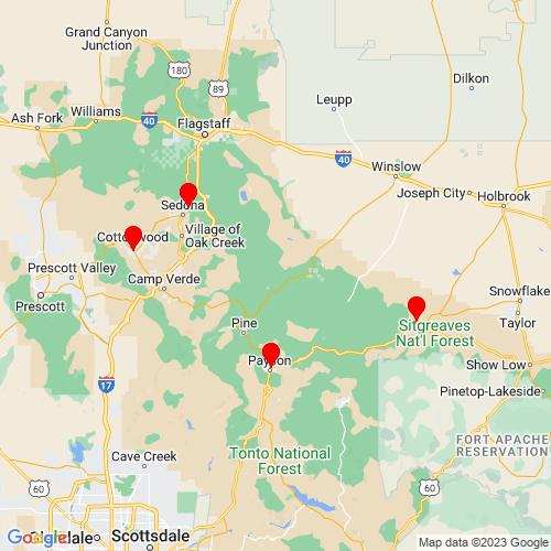 Map of Pine, AZ