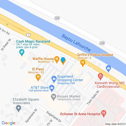 Map of Raceland, LA