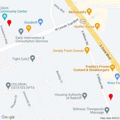 Map of Radcliff, KY