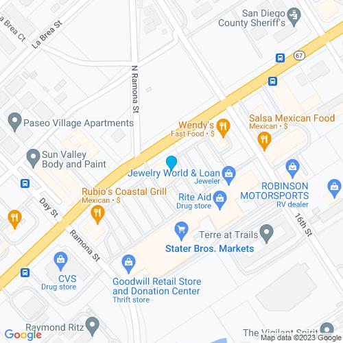 Map of Ramona, CA