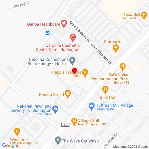Map of Randleman, NC