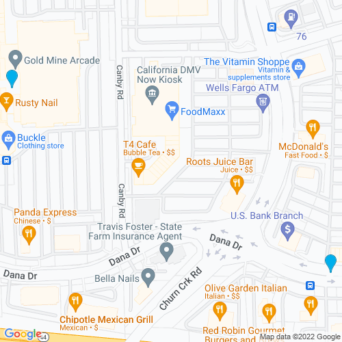 Map of Redding, CA