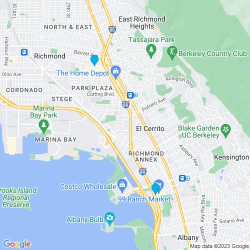 Map of Richmond, CA