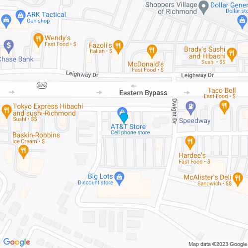 Map of Richmond, KY