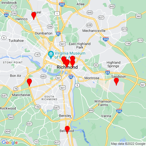 Map of Richmond, VA